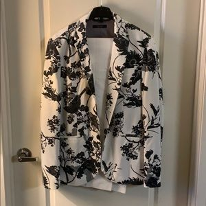 Zara Two piece floral print blazer and pants suit